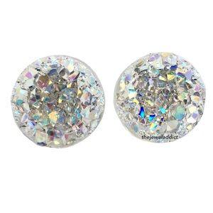 3 for 15🎀 crystal clear faux druzy earrings
